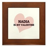 Nadia Is My Valentine Framed Tile