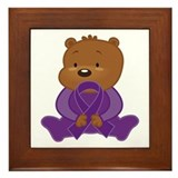 Teddy Bear Alzheimers Ribbon Framed Tile