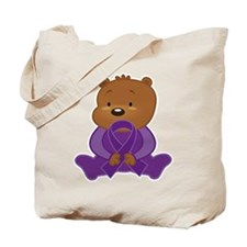 Teddy Bear Alzheimers Ribbon Tote Bag
