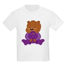 Teddy Bear Alzheimers Ribbon T-Shirt