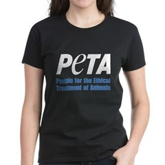 PETA Logo Women's Dark T-Shirt