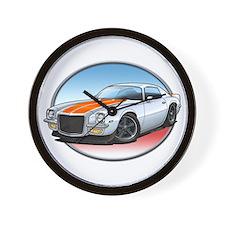 White 70s Camaro Wall Clock