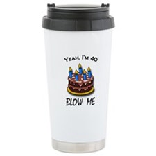 40th birthday Ceramic Travel Mug