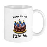 40th birthday Small Mugs