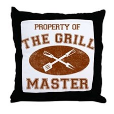 Property of Grill Master Throw Pillow
