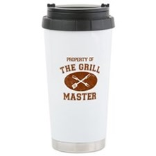 Property of Grill Master Ceramic Travel Mug