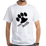 Feline Inside furry white shirt