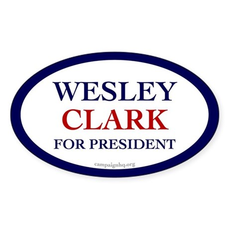 Wesley Clark for President Oval Sticker