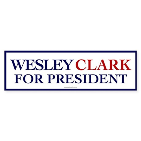 Wesley Clark for President Bumper Sticker