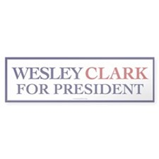 Wesley Clark for President Bumper Bumper Sticker