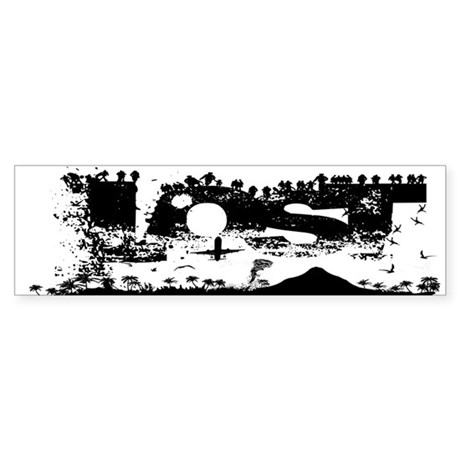 Lost Island White Bumper Sticker