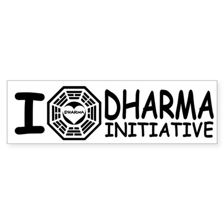 I Love DHARMA Initiative Lost Bumper Sticker