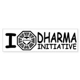 I Love DHARMA Initiative Lost Bumper Car Sticker