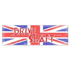 Drive Shaft British Flag Lost Bumper Car Sticker