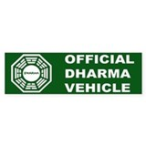 Official DHARMA Vehicle Lost Bumper Bumper Stickers