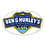 Ben & Hurley's Spring Water Sticker (Oval)