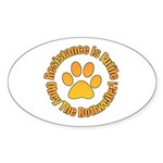 Rottweiler Sticker (Oval 50 pk)
