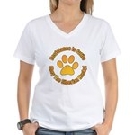 Siberian Husky Women's V-Neck T-Shirt
