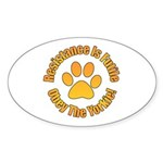 Yorkshire Terrier Sticker (Oval 50 pk)