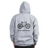 Bicycle, No Oil Spill Needed Zip Hoodie