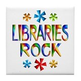 Libraries Tile Coaster