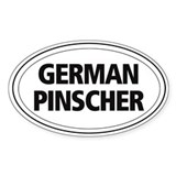 German Pinscher Oval Decal