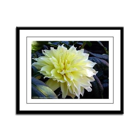 the Yellow Dahlia Framed Panel Print