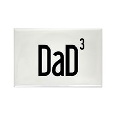 Dad of Three Rectangle Magnet (100 pack)