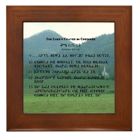 Cherokee Lord's Prayer Framed Tile