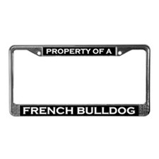 Property of French Bulldog License Plate Frame