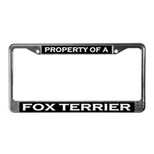 Property of Fox Terrier License Plate Frame