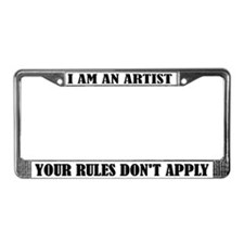 Funny I Am An Artist License Plate Frame