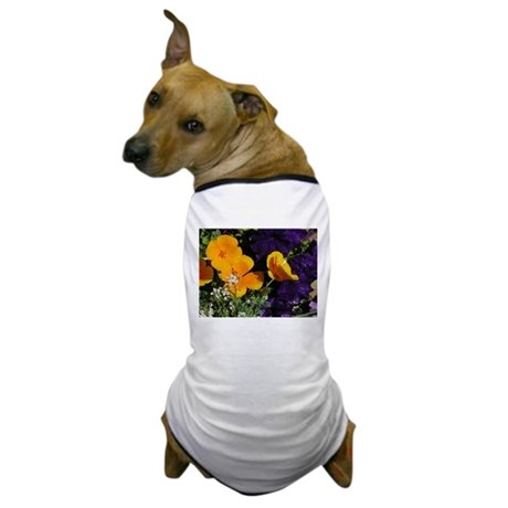 Poppy Bouquet Dog T-Shirt