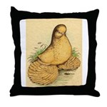 Muffed Tumbler Pigeon Throw Pillow