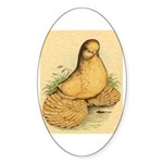 Muffed Tumbler Pigeon Oval Sticker