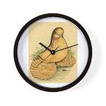 Muffed Tumbler Pigeon Wall Clock