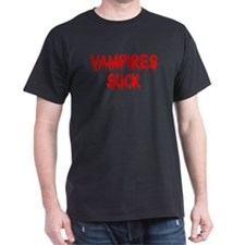 VAMPIRES SUCK Black T-Shirt