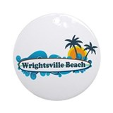 Wrightsville Beach NC - Surf Design Ornament (Roun