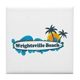 Wrightsville Beach NC - Surf Design Tile Coaster