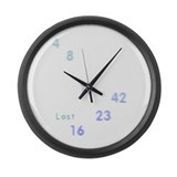LOST numbers grey blue Large Wall Clock