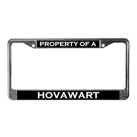 Property of Hovawart License Plate Frame