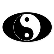 yin yang Oval Decal