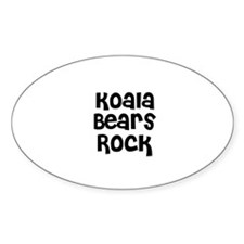 Koala Bears Rock Oval Stickers