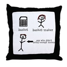 A Tisket A Tasket Throw Pillow