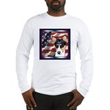 Basenji USA Flag Long Sleeve T-Shirt