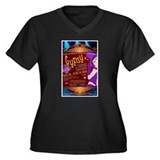 Gypsy Women's Plus Size V-Neck Dark T-Shirt