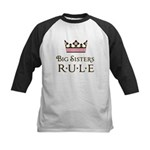 Big Sisters Rule Kids Baseball Jersey