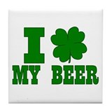 I Shamrock My Beer Tile Coaster