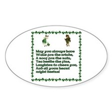 Irish Blessings, Saying, Toasts and Prayer Decal