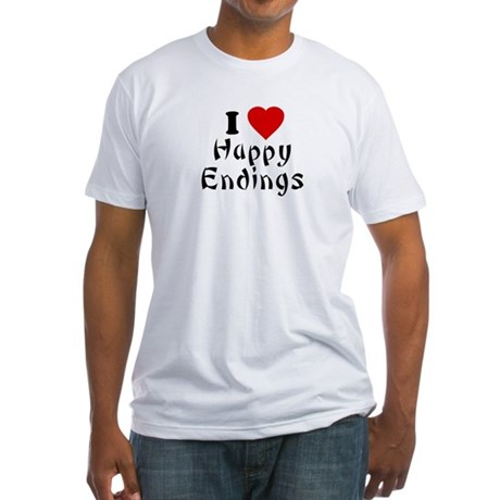 I Love [Heart] Happy Endings Fitted T-Shirt